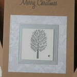 FREE POSTAGE Christmas Tree Card Merry Christmas Card ~ Ready to Post