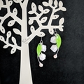 Lily of the Valley Drop Earrings (White) - Handmade Kawaii Flowers