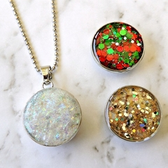 Three in One Christmas Theme Necklace