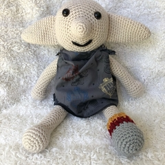 MADE TO ORDER House Elf Plushie Dolls in Harry Potter Fabric - Dobby, Amigurumi