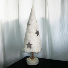 Felted Christmas Tree Stars Art