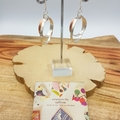Sterling silver and copper double hoop earrings