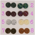 3x pairs Druzy Studs FREE POSTAGE - pick your colours!