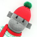 'Merry' the Christmas Sock Monkey - *MADE TO ORDER*