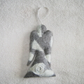 Felted Angel White Grey