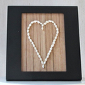 Shell Heart in Black timber frame