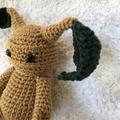 MADE TO ORDER Crocheted Mandrake & Leaves - Plant, HP, Amigurumi, Plushie, Geek