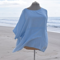 """Linen Tunic """" SAND-PIPER- light blue"""" by Bramble and Ivy"""