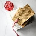 Mid Burlap Tags {10} Blank w Ties | Christmas Gift Tags | Plain Holiday Tags