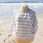 """Linen Blouse/Top """" light weight striped Linen"""" by Bramble and Ivy."""