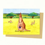 Kangaroo Gift Card, Mother's Day Gift Card, Birthday Card, Valentines day card
