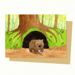 Wombat Gift Card, Mother's Day Gift Card, Birthday Card, Valentine Gift Card