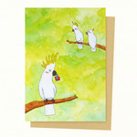 Cockatoo Gift Card, Mother's Day Gift Card, Valentines Day Card, Birthday Card