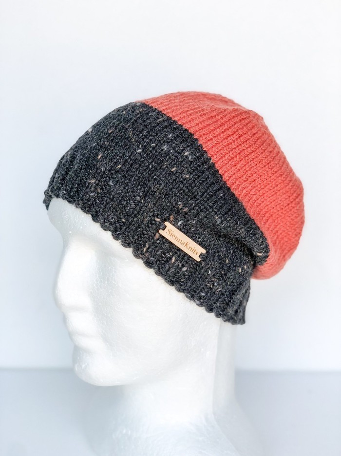 Women orange beanie b949270e080