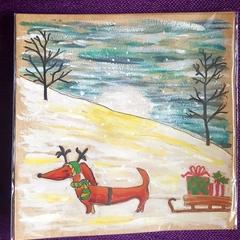 Sausage Dog Christmas Sleigh!
