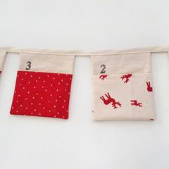 Custom Order for Laura - Advent Christmas Calendar Fabric Bunting