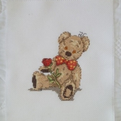 Cross stitched Bear
