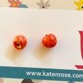 Apple studs : Red gala apples - Apple stud earrings - Teachers Gift