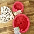 Crochet Basket- Medium- Bright Pink