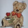 Cross stitched Bear