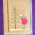 Christmas tree and little bird
