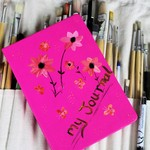 Journal Planner Kit - Hot Pink - Flowers and Butterflies