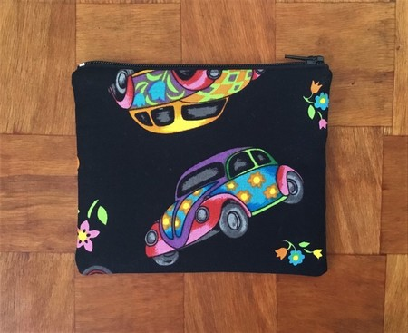 Colourful VW Beetle Purse