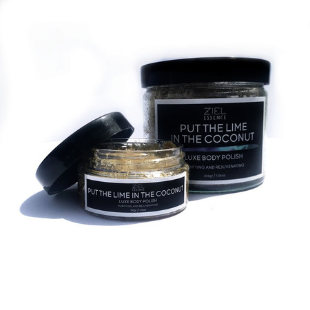 PUT THE LIME IN THE COCONUT BODY POLISH