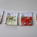 Christmas Advent Calendar Fabric Bunting
