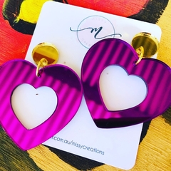 Purple Heart Dangle Earring