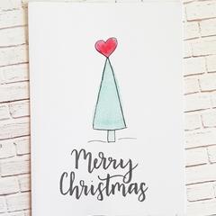 Christmas card - Whimsical tree