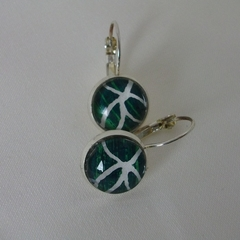 Jo-anne painted eardrop in sterling
