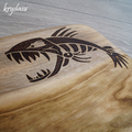 Wood Burnt Fish Camphor Laurel Cutting Board