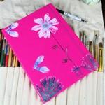 A4 - Diary Kit - Hot Pink - Moth Eaten Lovely - Travel Journal Book - Notebook