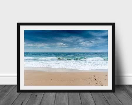Glass Wave, Norah Head Beach, Central Coast, Landscape Print