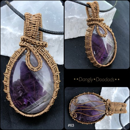 WIRE WRAPPED PENDANT #063 Amethyst
