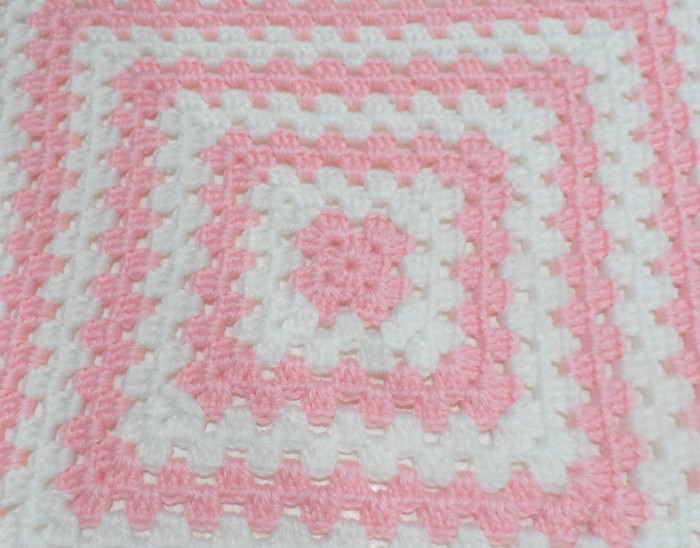 Baby Girl Granny Square Pink Blanket Little Bitty Crafts Madeit