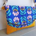 Retro floral Heidi clutch/bag