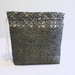 Japanese Yarn bag, Japanese Wool bag,  Wool organiser, Crochet bag, Knitting bag