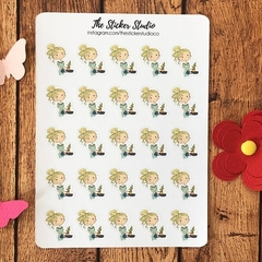 Watering Plants Planner Stickers - Hydrating Stickers, Blonde Girl Stickers fits