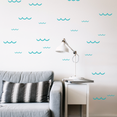 Waves #3 wall decals