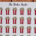 Popcorn Planner Stickers - Movie Night, Night In/Night Out Stickers fits Erin Co