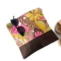 Fold Over Clutch - 'Yellow Floral Garden'