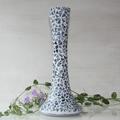 Tall blue mosaicked vase