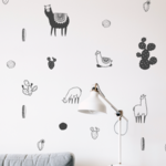 Llama wall decals - alpaca decals
