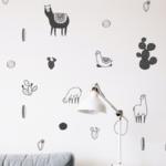 Llama wall decals - alpaca decals