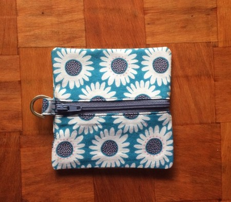 Daisy Coin Purse -Blue