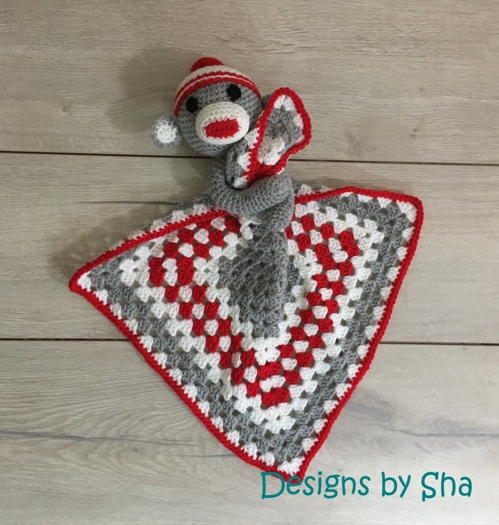 Sock Monkey Lovey Crochet Pattern Designs By Sha Madeitcomau