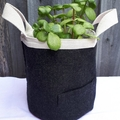 Fabric Basket /Pot Cover {Re-purposed Wool}
