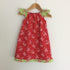Christmas floral dress ,  pretty girls dress, party dress. Handmade cotton dress